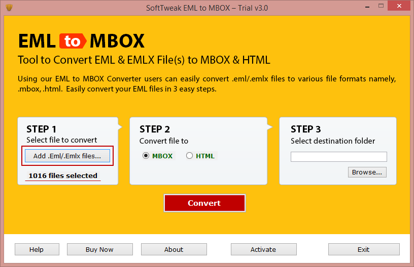 Convert EML Format to MBOX in Batch using EML to MBOX Tool