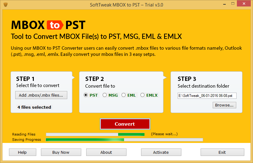 MBOX to PST Migration Completed