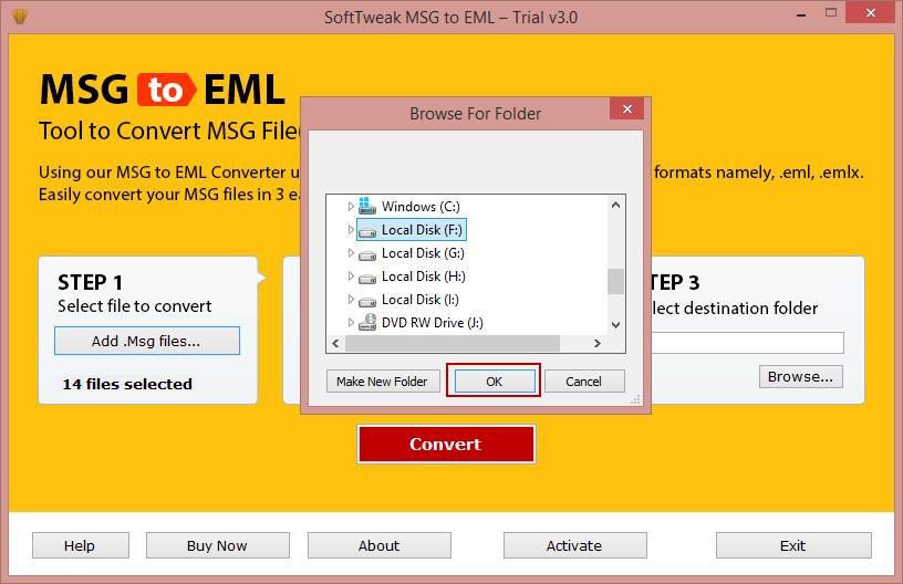 SoftTweak™ MSG to EML/EMLX – Convert Outlook Message to EML