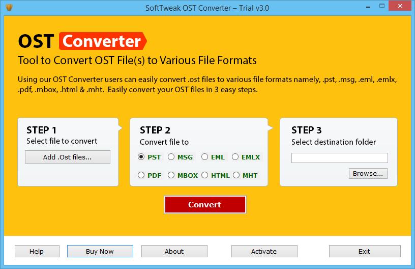 SoftTweak OST Converter full screenshot