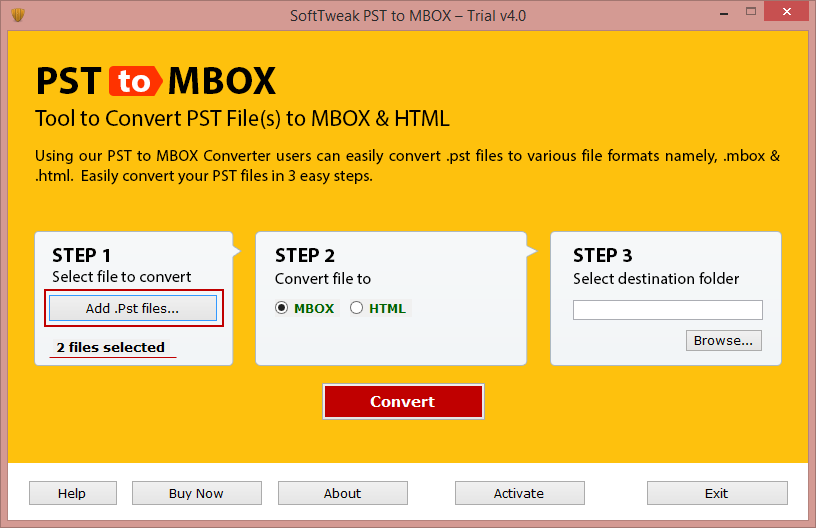 Smart PST to MBOX Converter