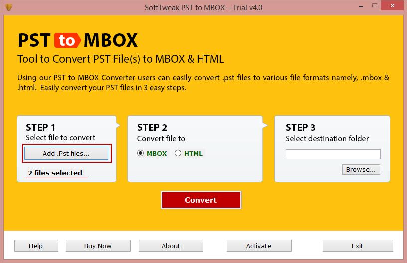 Smart PST to MBOX Converter full screenshot